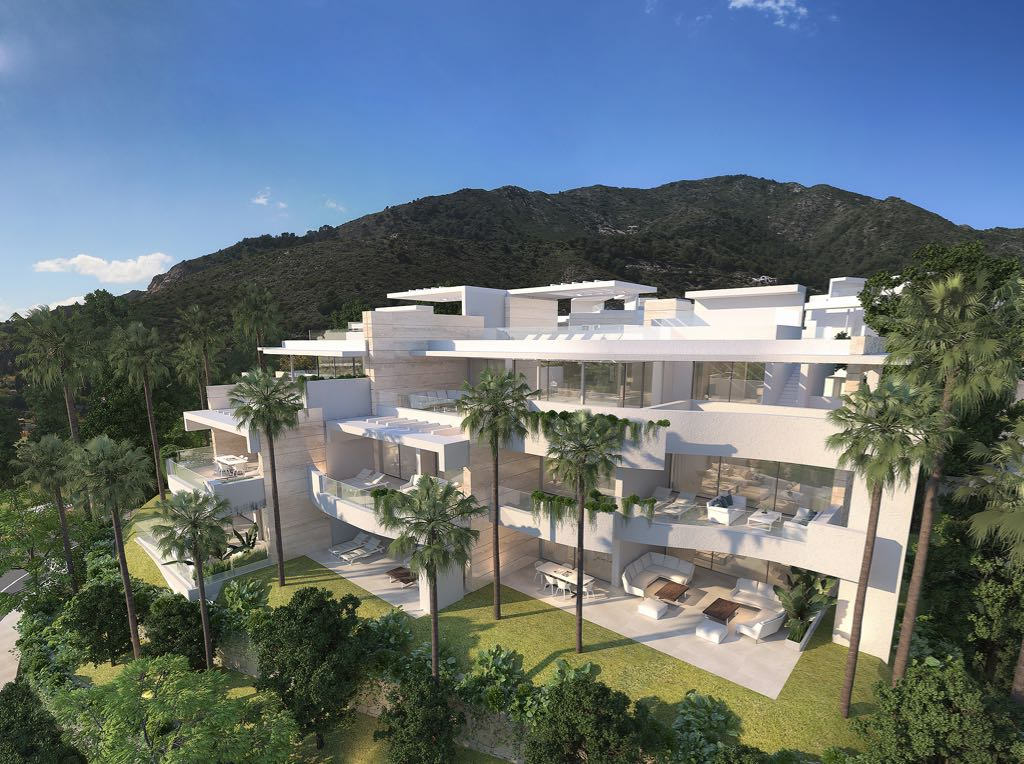 Luxurious architecture in a natural beauty