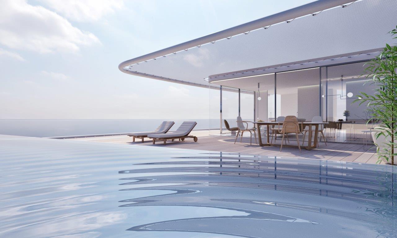 Luxe appartementencomplex op het strand